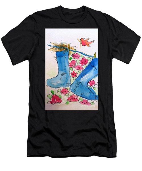 Blue Stockings Men's T-Shirt (Athletic Fit)