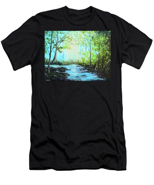 Blue Stream Men's T-Shirt (Athletic Fit)