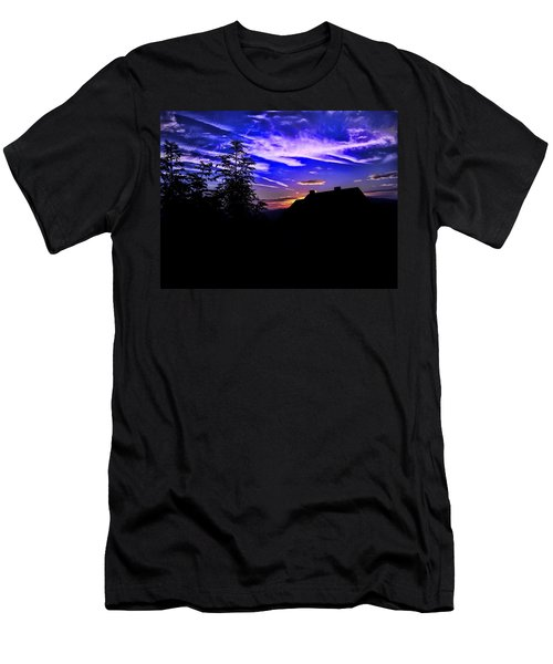 Men's T-Shirt (Slim Fit) featuring the photograph Blue Sunset In Poland by Mariola Bitner