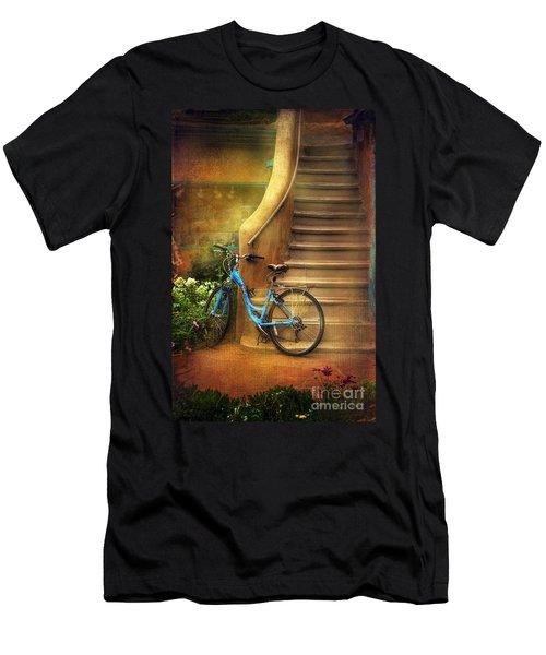 Blue Taos Bicycle Men's T-Shirt (Slim Fit) by Craig J Satterlee
