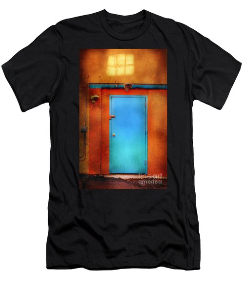 Blue Taos Door Men's T-Shirt (Athletic Fit)