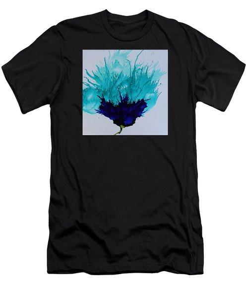 Blue Thistle Men's T-Shirt (Athletic Fit)