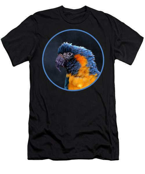 Blue-throated Macaw Profile Men's T-Shirt (Athletic Fit)