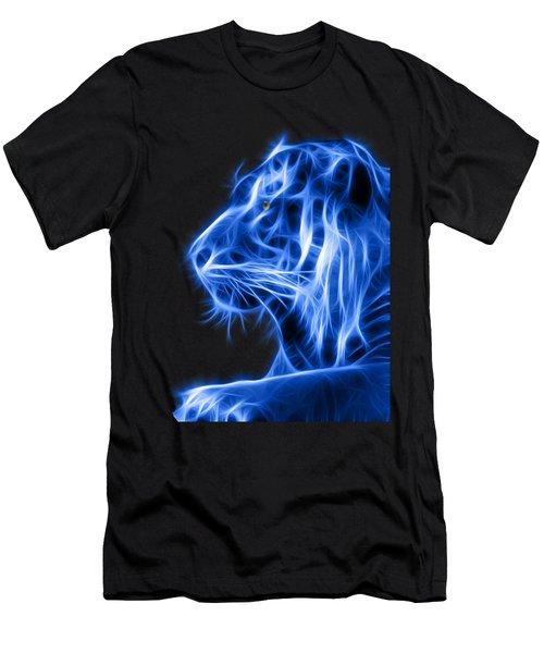 Blue Tiger Men's T-Shirt (Athletic Fit)