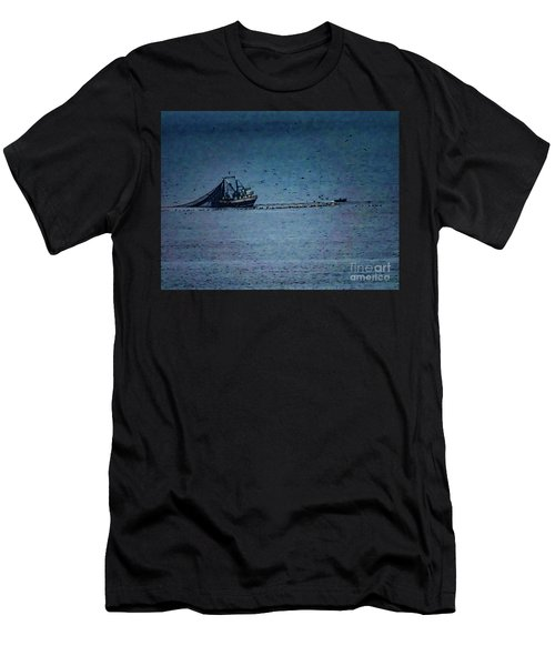 Blue Trawler 1 Men's T-Shirt (Athletic Fit)