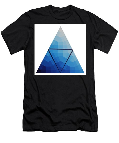 Blue Triangle - Wave Of Blue - Image #10 Men's T-Shirt (Athletic Fit)