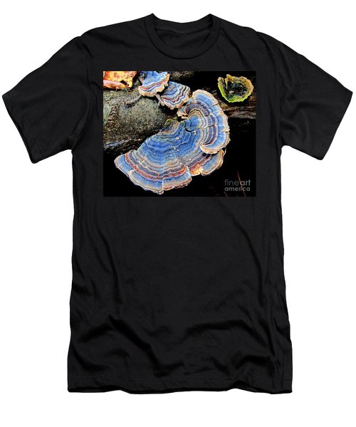 Blue Turkeytail Fungi Men's T-Shirt (Athletic Fit)