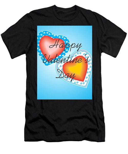 Blue Valentine Lace  Men's T-Shirt (Athletic Fit)