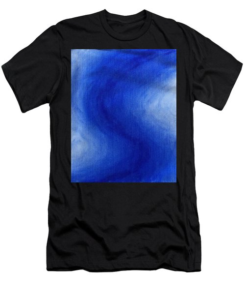 Blue Vibration Men's T-Shirt (Athletic Fit)