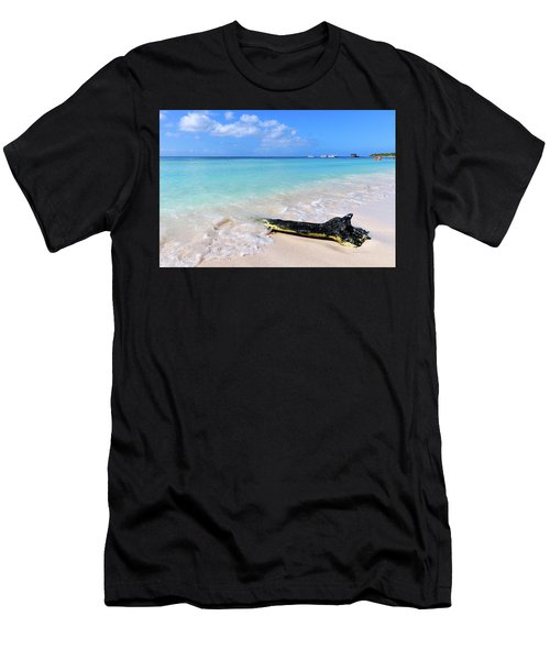Blue Water And White Sand Men's T-Shirt (Athletic Fit)