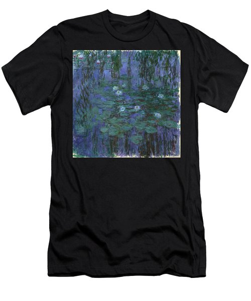 Blue Water Lilies, 1919 Men's T-Shirt (Athletic Fit)