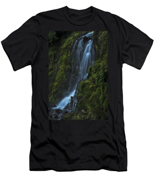 Blue Waterfall Men's T-Shirt (Athletic Fit)