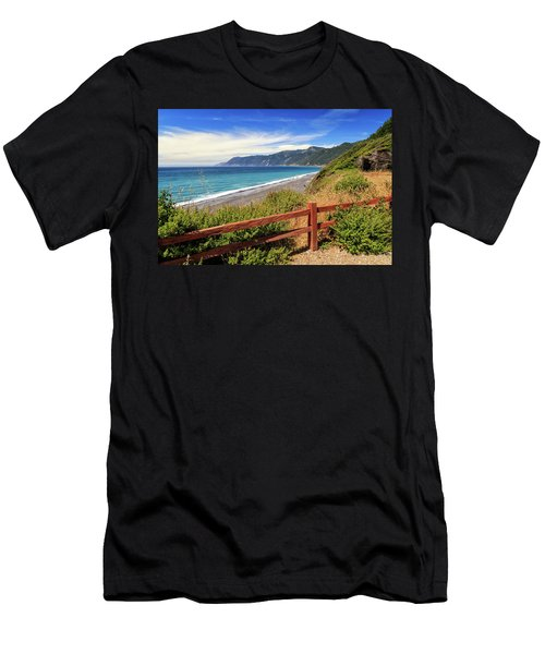 Men's T-Shirt (Athletic Fit) featuring the photograph Blue Waters Of The Lost Coast by James Eddy