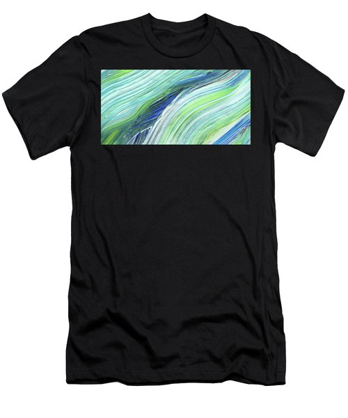 Blue Wave Abstract Art For Interior Decor I Men's T-Shirt (Athletic Fit)