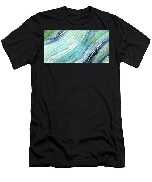 Blue Wave Abstract Art For Interior Decor IIi Men's T-Shirt (Athletic Fit)