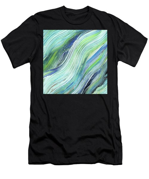 Blue Wave Abstract Art For Interior Decor Vi Men's T-Shirt (Athletic Fit)