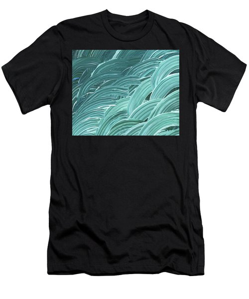 Blue Wave Abstract Art For Interior Decor Viii Men's T-Shirt (Athletic Fit)