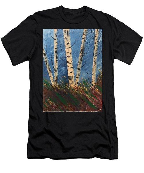 Blue Wind Blew Men's T-Shirt (Athletic Fit)