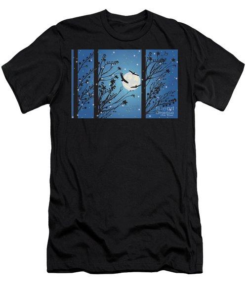 Blue Winter Moon Men's T-Shirt (Athletic Fit)