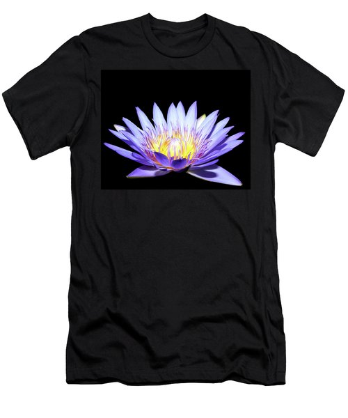 Men's T-Shirt (Slim Fit) featuring the photograph Blue Wonder by Judy Vincent