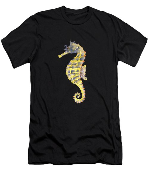 Blue Yellow Seahorse - Square Men's T-Shirt (Athletic Fit)