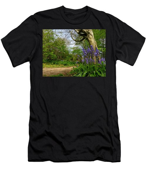 Bluebells By The Tree Men's T-Shirt (Athletic Fit)