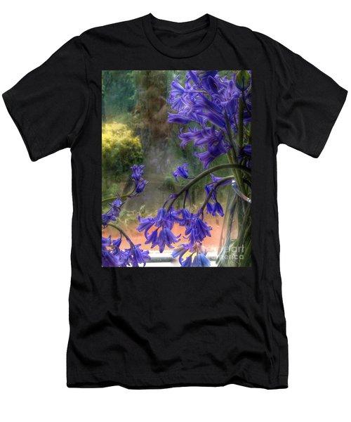 Bluebells In My Garden Window Men's T-Shirt (Athletic Fit)