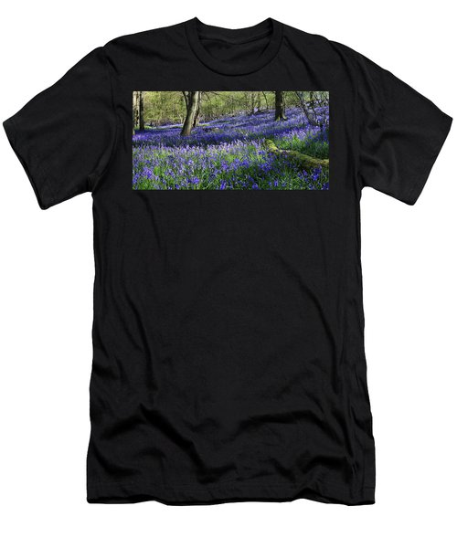 Men's T-Shirt (Athletic Fit) featuring the digital art Bluebells by Julian Perry
