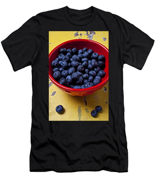 Blueberries In Red Bowl Men's T-Shirt (Athletic Fit)