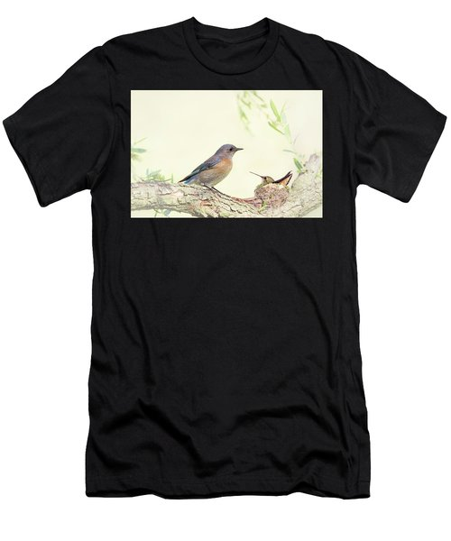Bluebird And Baby Hummer Men's T-Shirt (Athletic Fit)