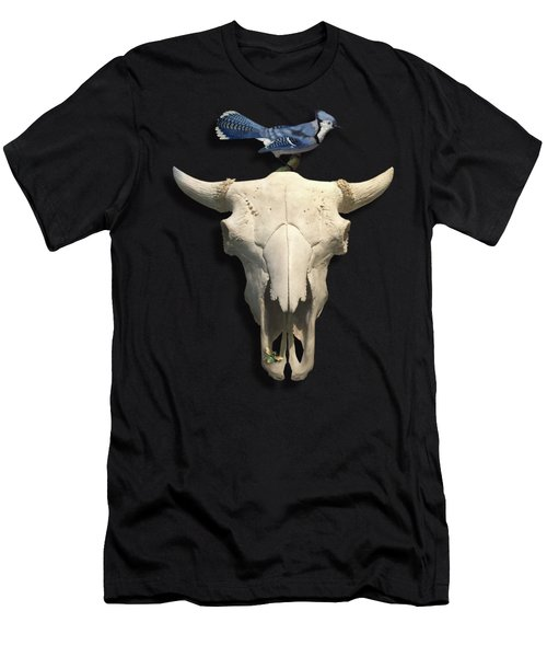 Bluejay And The Buffalo Skull Men's T-Shirt (Athletic Fit)