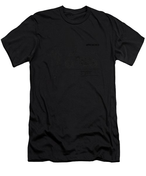 Blueprint Of A Z1000 Motorcycle Men's T-Shirt (Athletic Fit)
