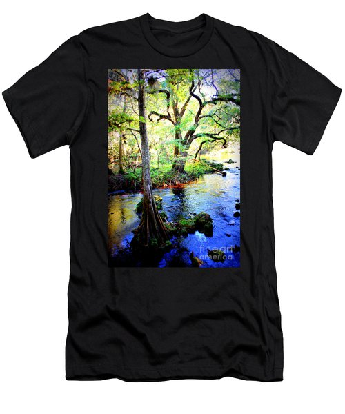 Blues In Florida Swamp Men's T-Shirt (Athletic Fit)
