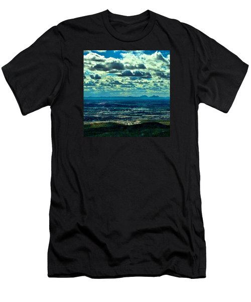 Blues In Nature  Men's T-Shirt (Athletic Fit)