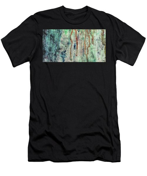 Standing In The Rain - Large Abstract Urban Style Painting Men's T-Shirt (Athletic Fit)