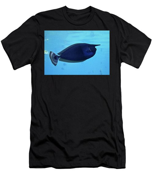Bluespine Unicorn Fish Men's T-Shirt (Athletic Fit)