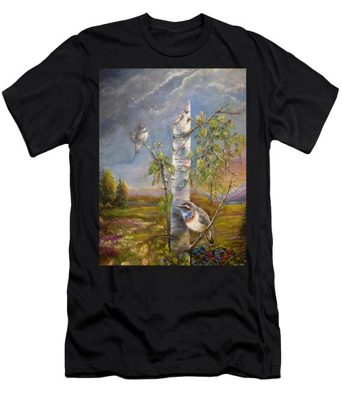 Bluethroat On The Tundra Men's T-Shirt (Athletic Fit)