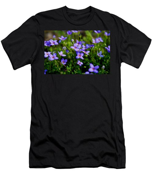 Men's T-Shirt (Slim Fit) featuring the photograph Bluets by Kathryn Meyer
