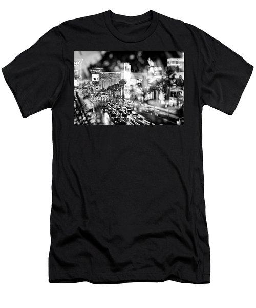 Blurry Vegas Nights IIi Men's T-Shirt (Slim Fit)