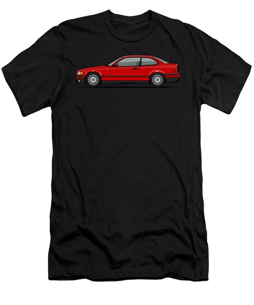 Bmw 3 Series E36 Coupe Red Men's T-Shirt (Athletic Fit)