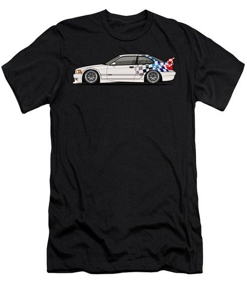 Bmw 3 Series E36 M3 Gtr Coupe Touring Car Men's T-Shirt (Athletic Fit)