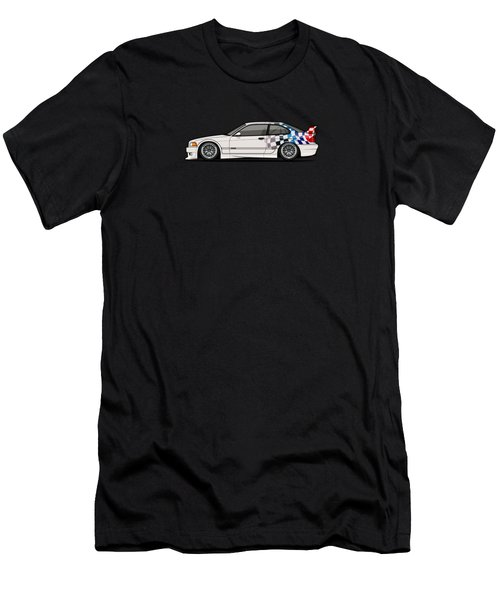 Bmw 3 Series E36 M3 Gtr Coupe Touring Car Men's T-Shirt (Athletic Fit)
