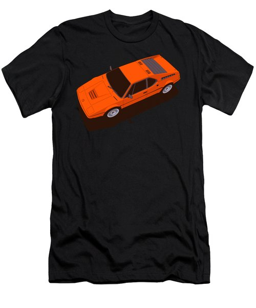 Bmw M1 E26 Red Orange Men's T-Shirt (Athletic Fit)
