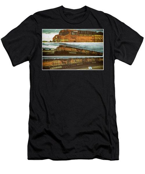 Bnsf 7682 Triptych  Men's T-Shirt (Athletic Fit)