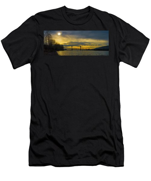 Bnsf Railroad Bridge 5.1 Men's T-Shirt (Athletic Fit)