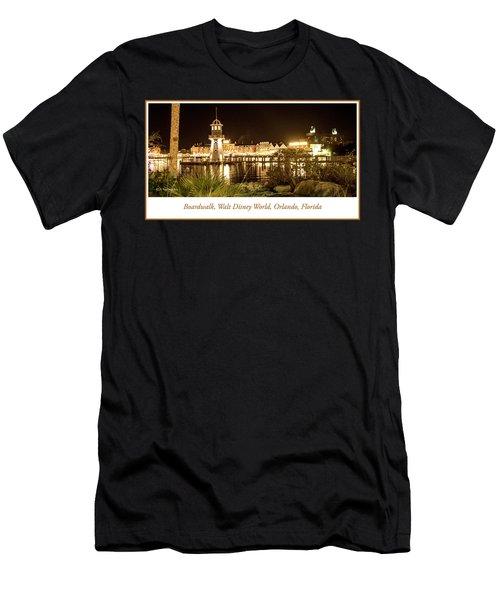 Boardwalk At Night, Walt Disney World Men's T-Shirt (Athletic Fit)
