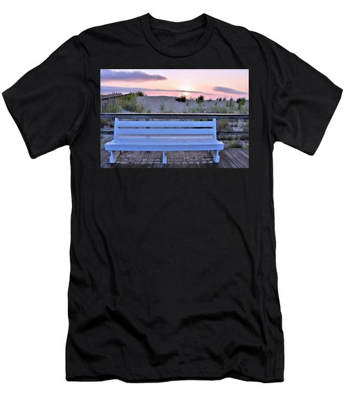 A Welcome Invitation -  The Boardwalk Bench Men's T-Shirt (Athletic Fit)