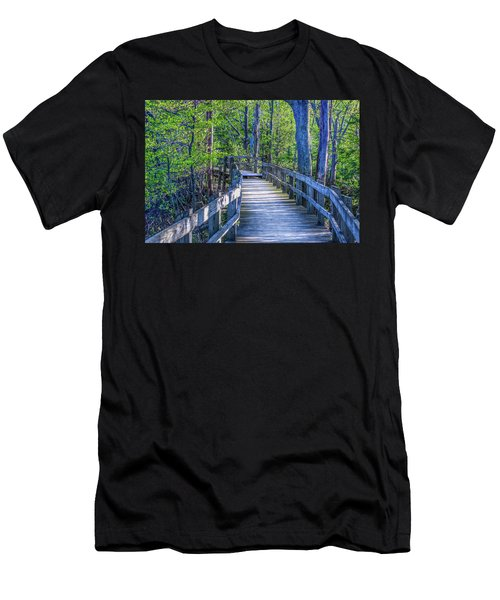 Boardwalk Going Into The Woods Men's T-Shirt (Athletic Fit)