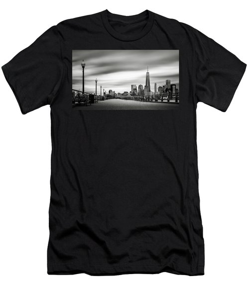 Boardwalk Into The City Men's T-Shirt (Athletic Fit)