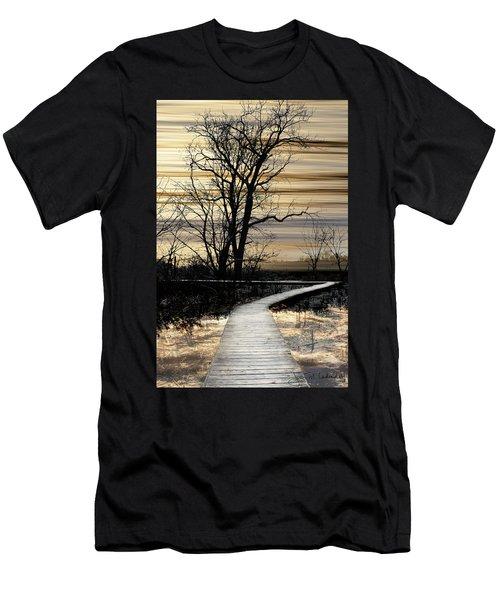 Boardwalk Men's T-Shirt (Slim Fit) by Joan Ladendorf